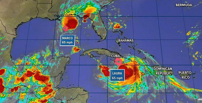 Huragan Marco i sztorm Laura nadciągają nad USA