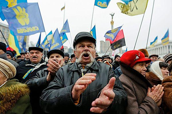 Protesty na Majdanie Niepodległości w Kijowie
