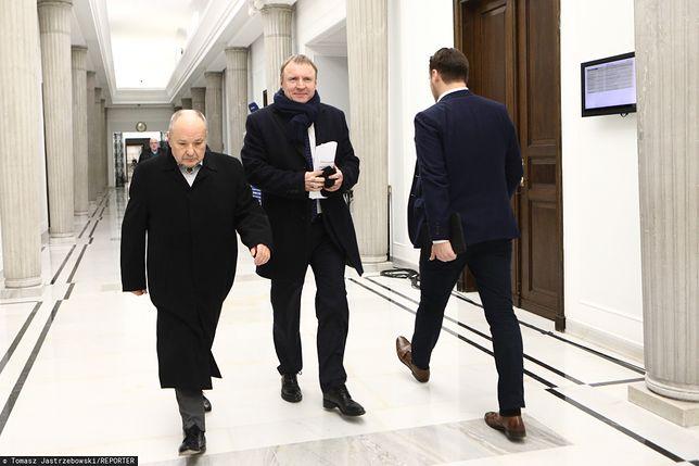 Maciej Łopiński i Jacek Kurski w Sejmie.