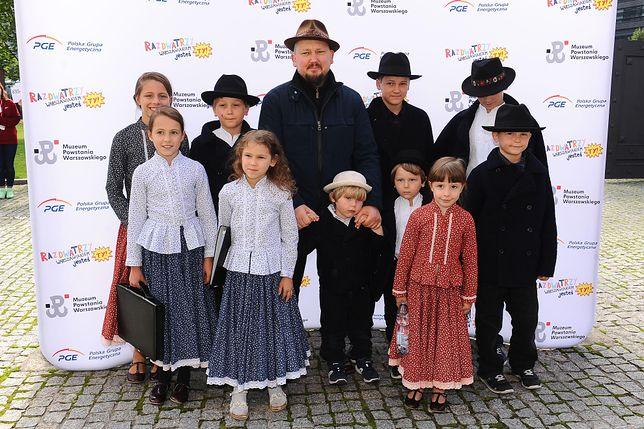 Joszko Broda z rodziną