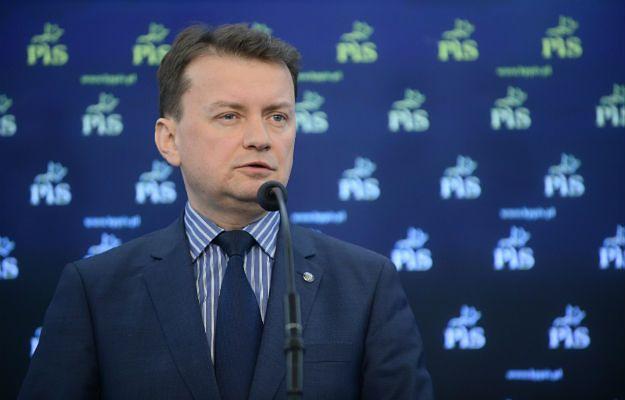 Przewodniczący klubu PiS Mariusz Błaszczak