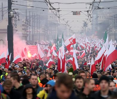 Tak wyglądał marsz niepodległości 11 listopada
