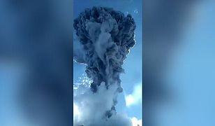 Wybuch wulkanu w Indonezji. Mieszkańcy wpadli w panikę