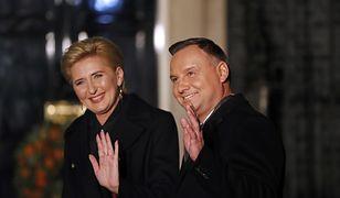 Agata Kornhauser-Duda i Andrzej Duda w Londynie