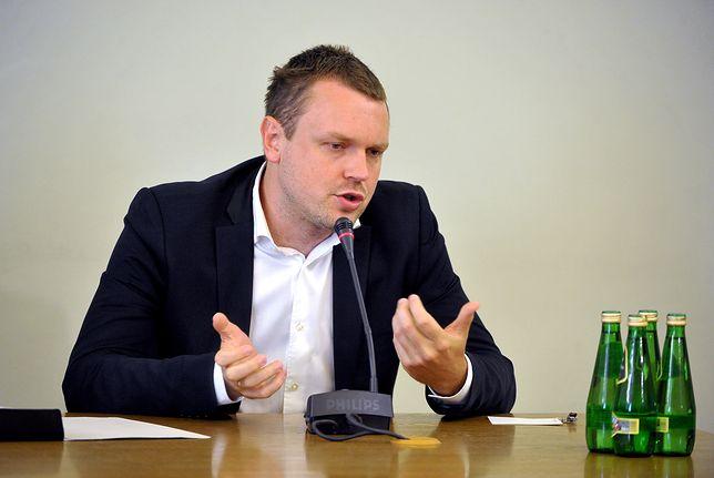 Michał Tusk na przesłuchaniu przed komisją ds. Amber Gold.