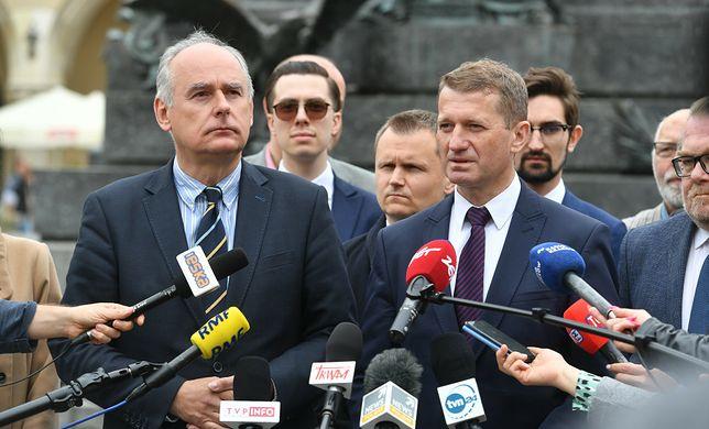 Kraków. Paweł Zalewski oraz Ireneusz Raś na konferencji prasowej