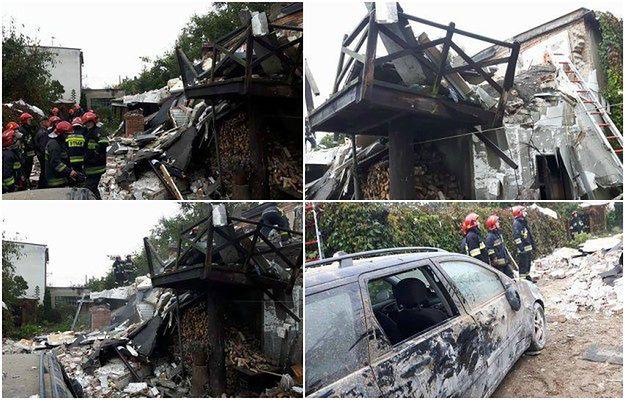 Wybuch butli z gazem w domu jednorodzinnym w Bydgoszczy