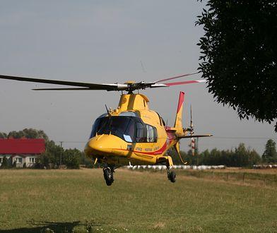 Ranną w wypadku do szpitala zabrał śmigłowiec