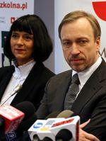 dyrektor Agnieszka Odorowicz i minister Bogdan Zdrojewski,
