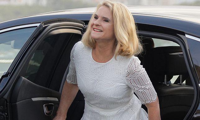 Małgorzata Tusk w dziewczęcej sukience na lato