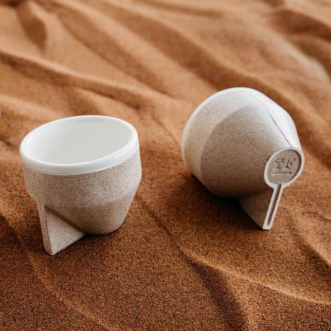 Ekologiczny kubek z piasku