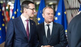 Premier Mateusz Morawiecki i szef Rady Europejskiej Donald Tusk