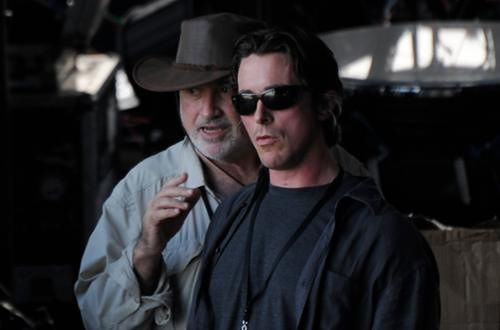 Terrence Malick i Christian Bale fot. Buckeye Pictures