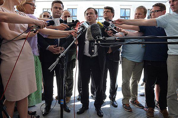 Mariusz Kamiński, podczas konferencji prasowej po niejawnej części posiedzenia sejmu