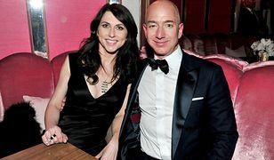 MacKenzie Scott i Jeff Bezos.