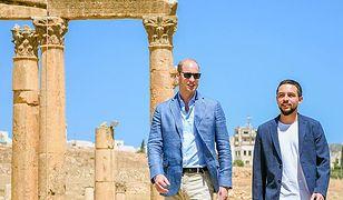 Książęta William i Al Hussein bin Abdullah II