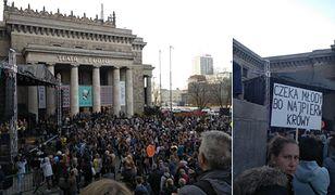 Strajk nauczycieli. Na koncert miały przyjść tysiące osób. Przyszło kilkaset