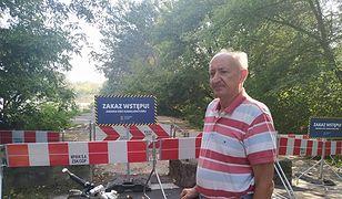 – A teraz znowu się sączy – mówi pan Tadeusz, który przy Wiśle na warszawskich Bielanach mieszka od 30 lat