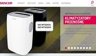 Producent klimatyzatorów apeluje, by zwrócić je do sklepu lub zadzwonić po serwisanta