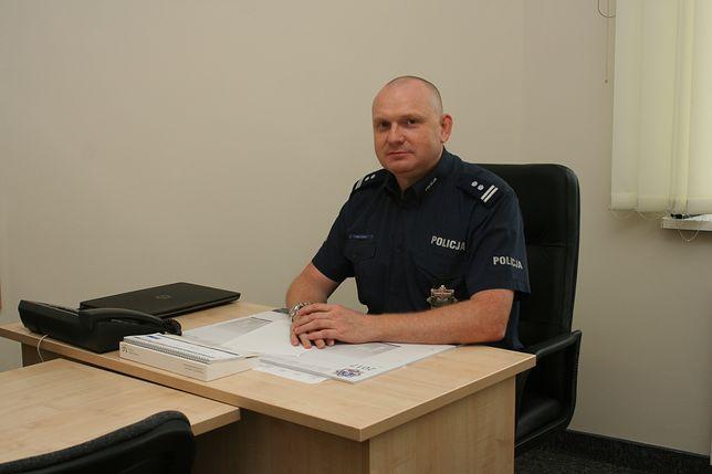 Odwołany komendant policji Przemysław Mielczarek