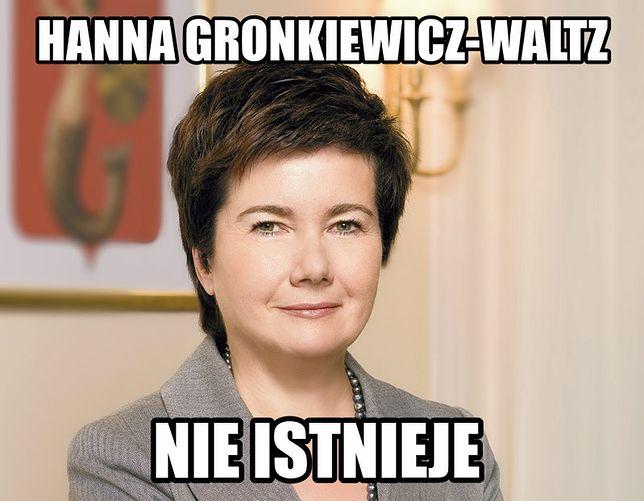Warszawski humor: Hanna Gronkiewicz-Waltz nie istnieje!