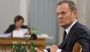 Donald Tusk przed komisją śledczą ds. afery hazardowej.