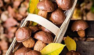 Pierniczki grzybki. Ozdoba świątecznego stołu