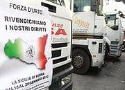 Protest sycylijskich kierowców