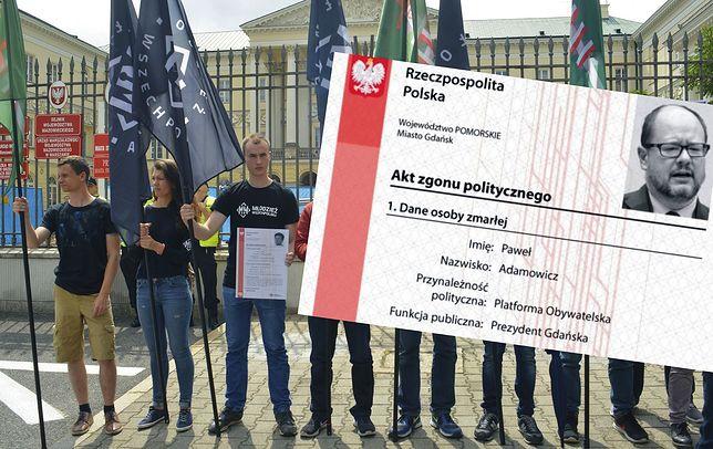 """Jaśkowiak chce śledztwa ws. """"aktów zgonów"""" MW. """"Ze względu na szacunek dla Adamowicza"""""""