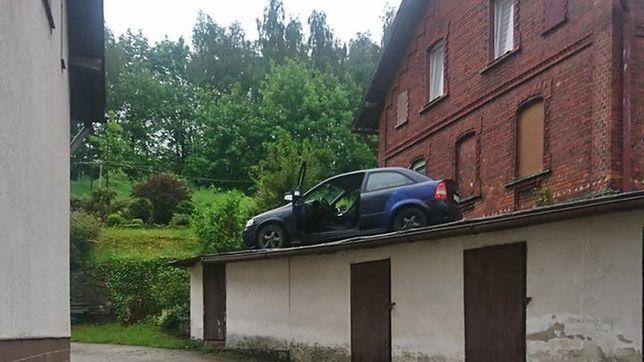 Wałbrzych. Uciekał przed policją. Wylądował na dachu budynku
