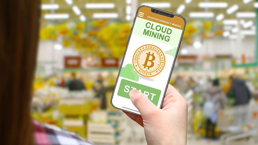 Aplikacja do kryptowalut z depositphotos