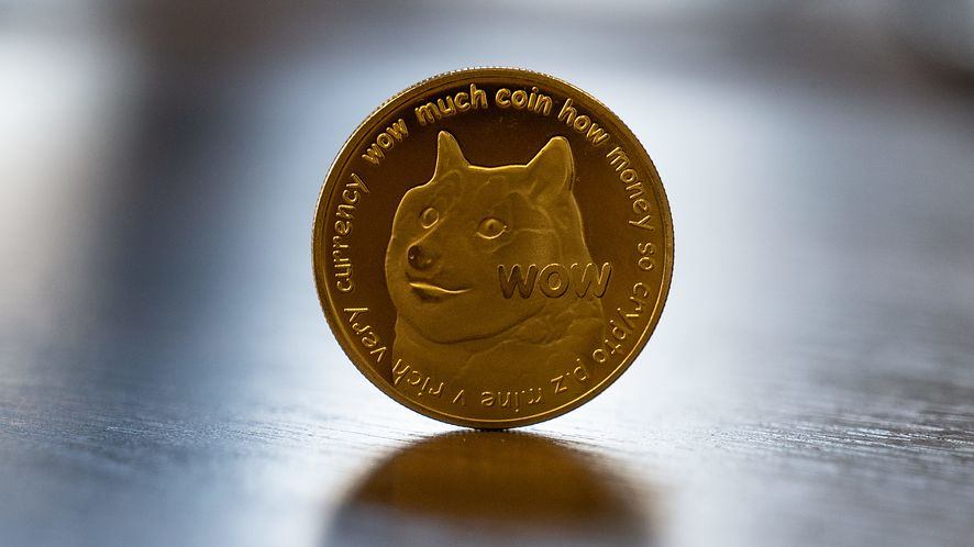 Dogecoin Cryptocurrency Medallion