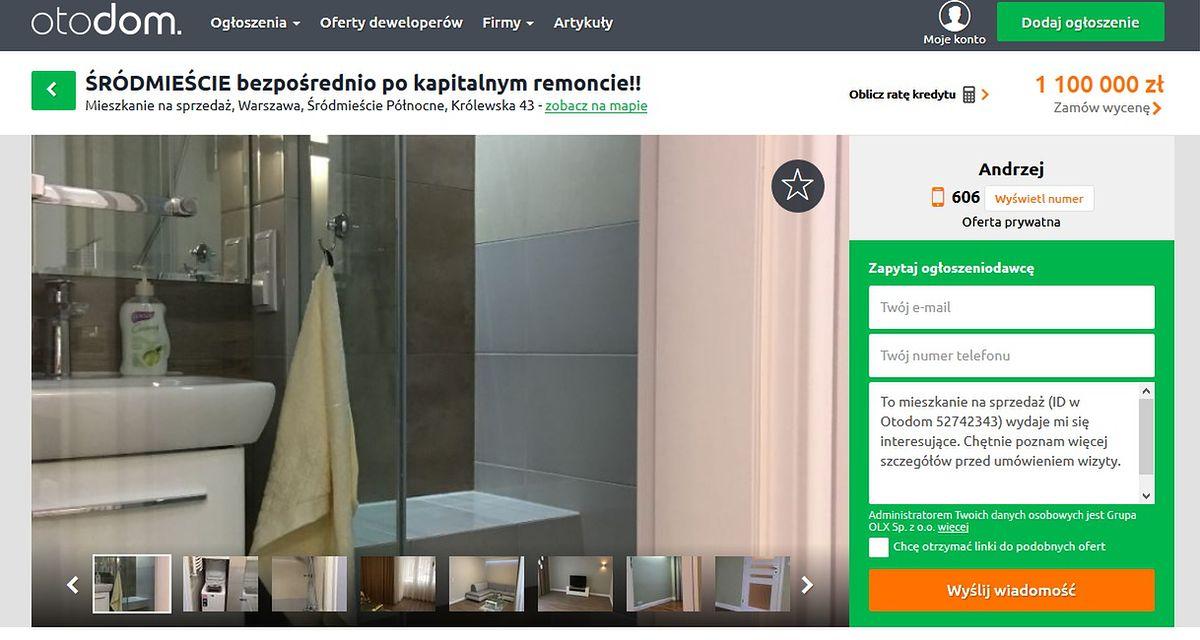 Absurdalna oferta. 22 tys. za metr kw. mieszkania z PRL