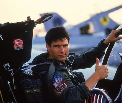 "Tom Cruise w ""Top Gun"""