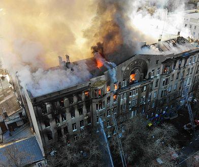 Pożar szkoły policealnej w Odessie
