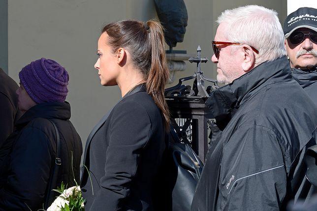 Pogrzeb Mariana Kociniaka - Anna Mucha