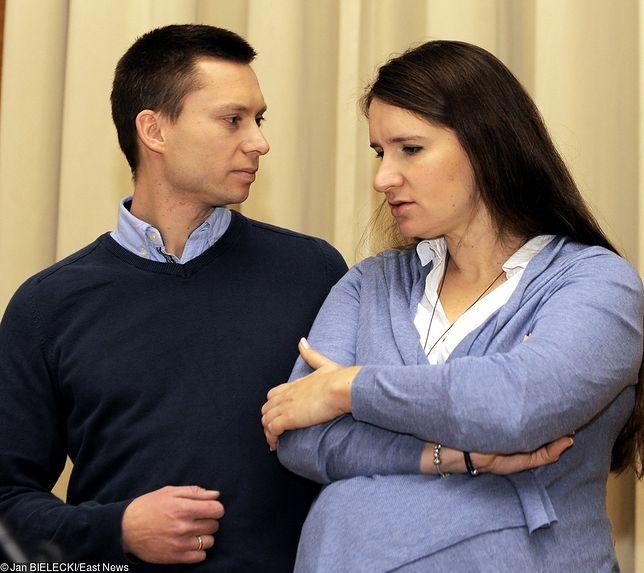 Karolina i Tomasz Elbanowscy podczas spotkania z minster edukacji narodowej Anną Zalewską, w 2015 roku.