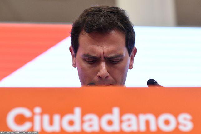 Lider partii Ciudadanos Albert Rivera rezygnuje po porażce w wyborach parlamentarnych w Hiszpanii