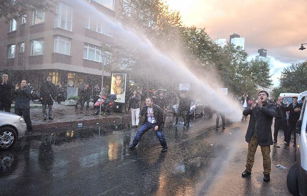 Protesty przeciwko rządowi i prezydentowi w Stambule 28 października