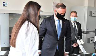 Andrzej Duda o badaniach nad polskim lekiem na koronawirusa