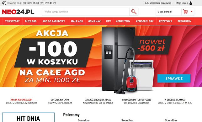 Ofiarą oszustwa padli klienci sklepu neo24.pl