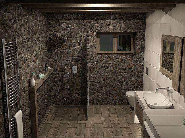 Kabinę walk-in można zamontować narożnikowo, otwierając ją na łazienkę z jednej strony
