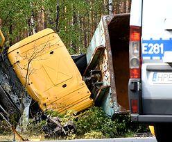 Tragedia koło Świdnicy. Nie żyje kierowca ciężarówki