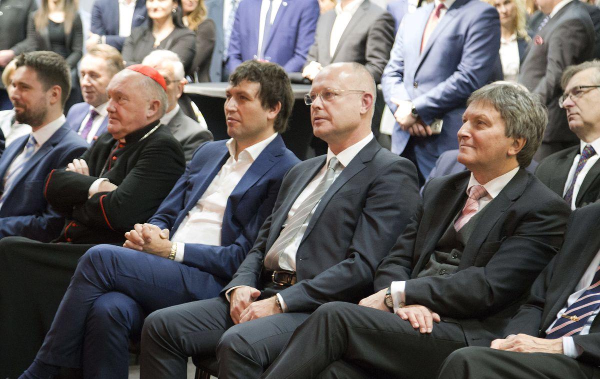 Dostojni goście Ptak Warsaw Expo na spotkaniu noworocznym polskich przedsiębiorców.