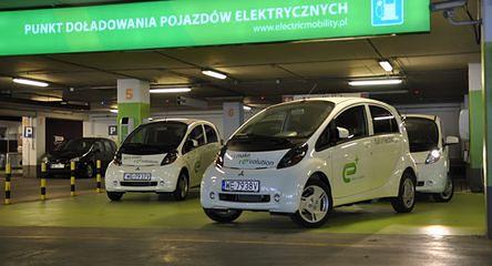Ładowanie elektrycznego auta
