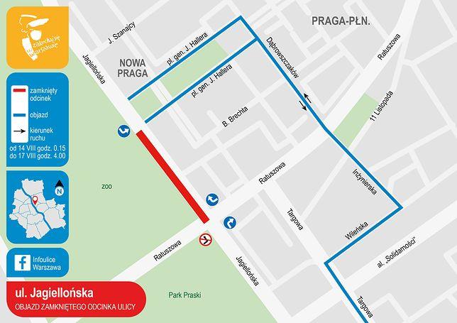 Warszawa. Remonty na Pradze. Duże utrudnienia drogowe