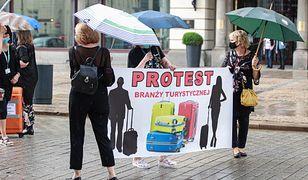 Warszawa. Branża turystyczna protestuje na ulicach