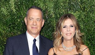 Tom Hanks i Rita Wilson w MOMA