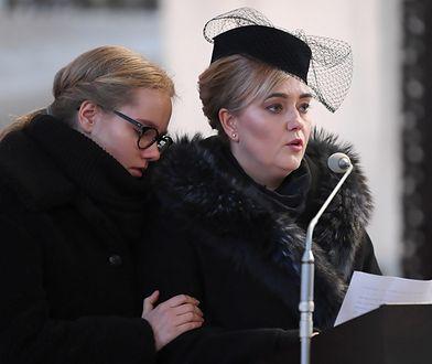 Magdalena Adamowicz w trakcie przemowy podczas pogrzebu męża