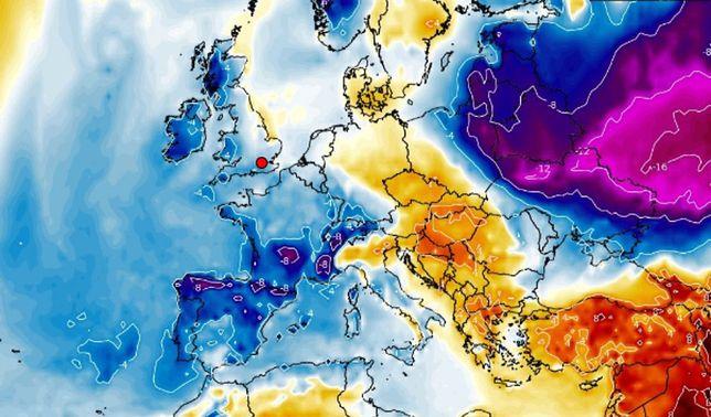 Pogoda na Boże Narodzenie i ferie zimowe 2021 może jeszcze zaskoczyć. (Wxcharts)